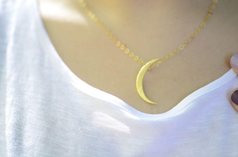Collar Luna joyas inspiradas en la naturaleza