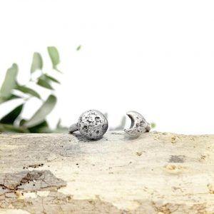 Anillo doble Luna plata de ley